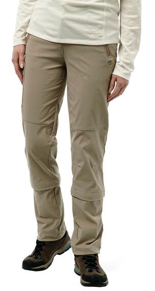 Craghoppers Nosilife Pro Capri Convertible Trousers Women Mushroom